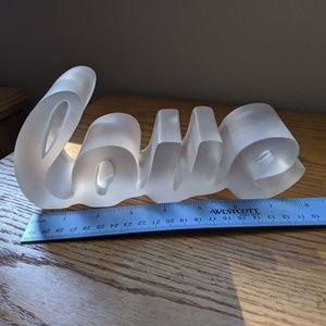 3D Glass Love Sculpture
